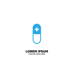 Herbal supplement - natural medicine logo vector
