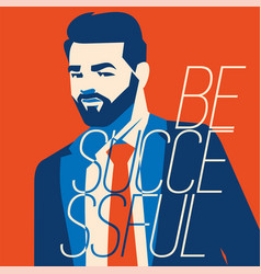hipster beard businessman vector image