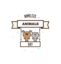 Homeless animals day vector