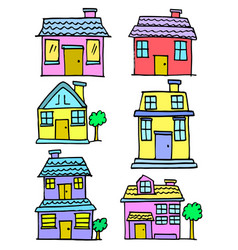House set colorful vector