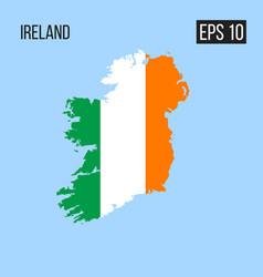Ireland map border with flag eps10 vector