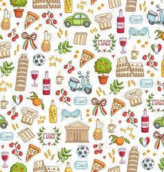 Italian style seamless pattern vector