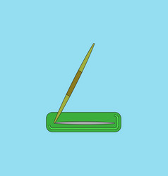 Javelin throw vector
