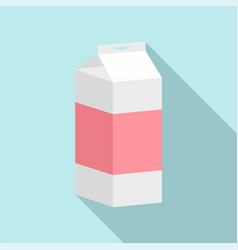 juice pack icon flat style vector image