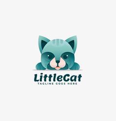 logo little cat gradient colorful style vector image