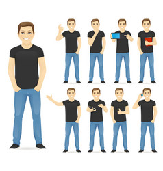 man in casual outfit set vector image