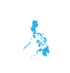 map of philippines high detailed map - philippines vector image