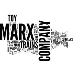 Marx toy trains text background word cloud concept vector
