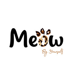 Meow ink lettering sales and marketing vector