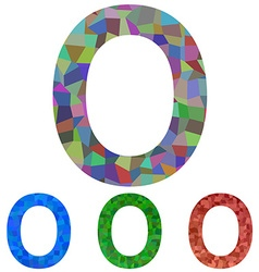 Mosaic font design - letter O vector