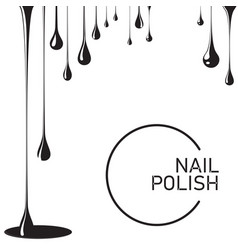 Nail polish drop black vector