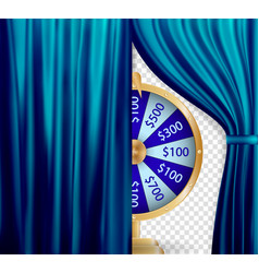natural color image curtain open curtains blue vector image