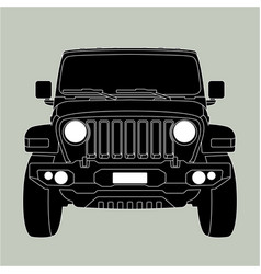off-road vehicle jeep front vector image