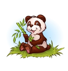 panda in cartoon style vector image