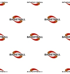 pattern basketball text vector image