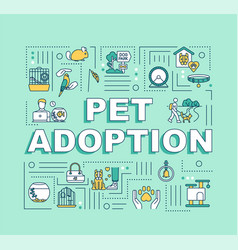 Pet adoption word concepts banner vector