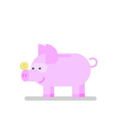 Piggy bank icon pig vector