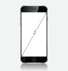 Realistic black mobile apple iphone 6 plus vector image