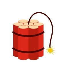 Red dynamite sticks icon vector image