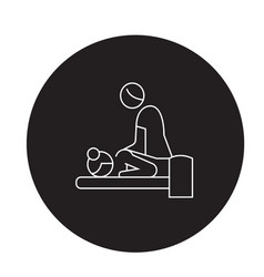 relaxing massage black concept icon vector image