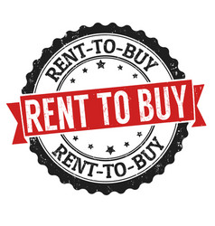 rent to buy sign or stamp vector image