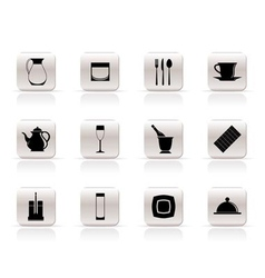 restaurant and cafe icons vector image