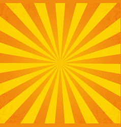 retro orange background ray in vintage style with vector image