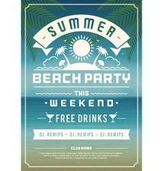 Retro summer design poster vector image