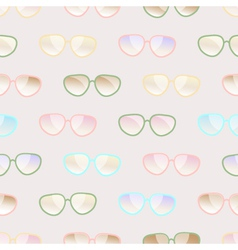 Seamless pastel pattern of sunglasses vector