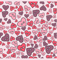 seamless pattern with hand drawn sewing buttons on vector image