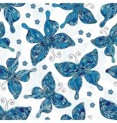 seamless patterns with butterflies various vector image