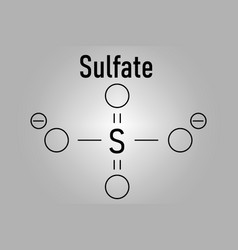 Skeletal formula of sulfate anion vector