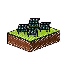 solar panel modern technologies alternative energy vector image