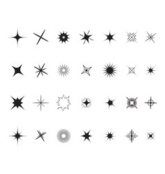 stars sparkles sign symbol set decoration element vector image