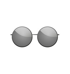 sunglasses icon black round silhouette sun vector image