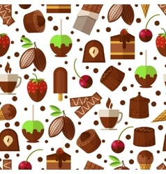 Sweets and candies chocolate ice cream seamless vector image