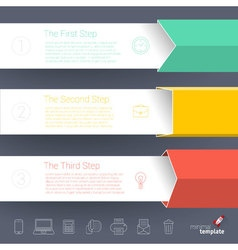 Template for infographics vector