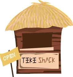 Tiki Shack Open vector image