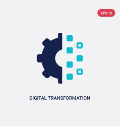 Two color digital transformation icon from vector