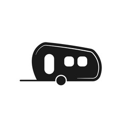 van trailer icon design template isolated vector image