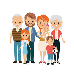 Very adorable big family portrait including vector