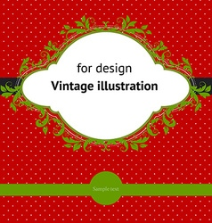 Vintage christmas design vector