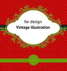 Vintage Christmas Design vector