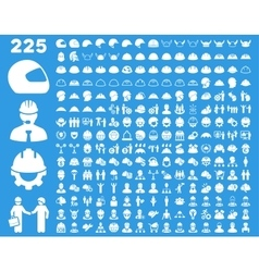 Work Safety and Helmet Icon Set vector image