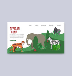 zoo or safari entrance with african animals vector image