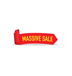 massive red sale sign vector image vector image