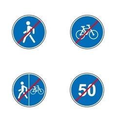 Set of road signs Signboards Collection of vector image