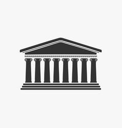 greece facade historic building vector image