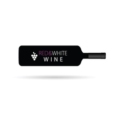 red and white wine horizontal vector image