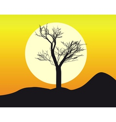 silhouette of a tree vector image